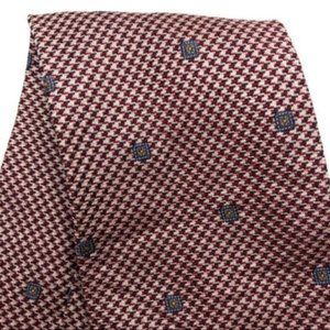 "Claiborne (58"") Red Silk Tie USA"